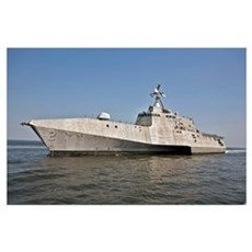 The littoral combat ship Independence during build Poster