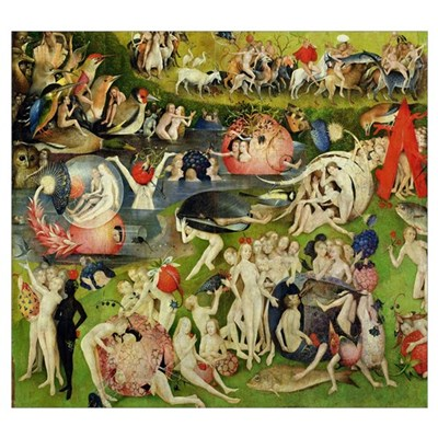 The Garden of Earthly Delights: Allegory of Luxury Poster