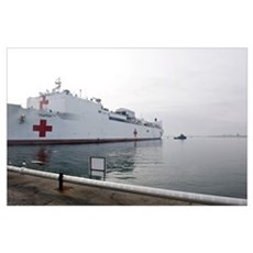 The Military Sealift Command hospital ship USNS Co Poster