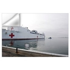 The Military Sealift Command hospital ship USNS Co Wall Decal