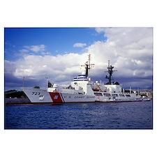 United States Coast Guard Cutter Rush docked in Pe