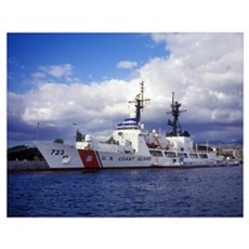 United States Coast Guard Cutter Rush docked in Pe Poster