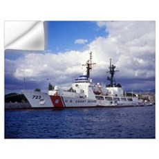 United States Coast Guard Cutter Rush docked in Pe Wall Decal