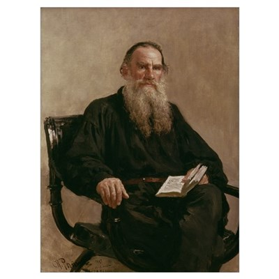 Lev Tolstoy (1828 1910) 1887 (oil on canvas) Framed Print