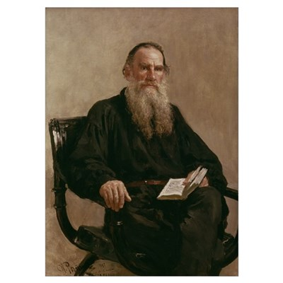 Lev Tolstoy (1828 1910) 1887 (oil on canvas) Poster
