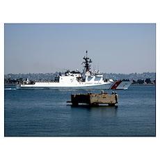 USCGC Bertholf underway in San Diego Bay Californi Poster