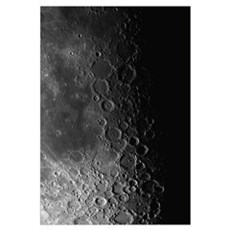 Rupes Recta ridge and craters Pitatus and Tycho Poster
