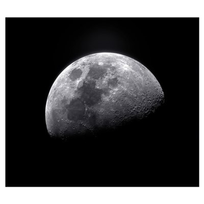 Waxing gibbous moon Poster