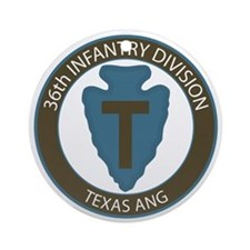 36th Infantry Texas ANG Ornament (Round)