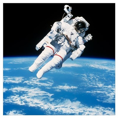 Astronaut floating in space Poster