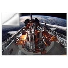 The cargo bay of the Space Shuttle Columbia Wall Decal