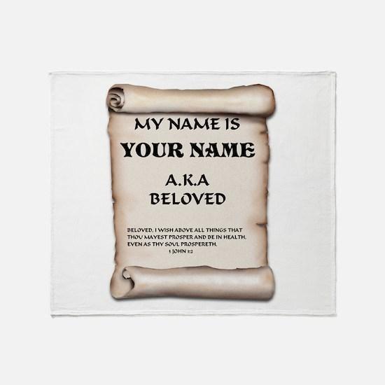 Funny Beloved Throw Blanket