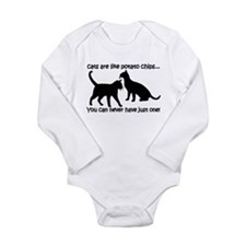 """""""Cats are like potato chips.. Long Sleeve Infant B"""