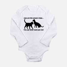 """Cats are like potato chips.. Long Sleeve Infant B"