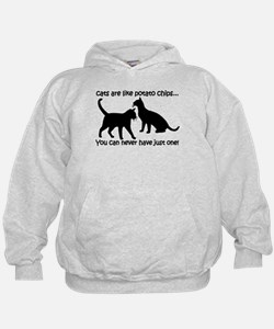 """""""Cats are like potato chips.. Hoodie"""