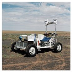 View of a 1G Lunar Rover Vehicle Poster