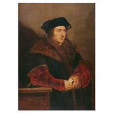 Portrait of Sir Thomas More (oil on canvas) Poster