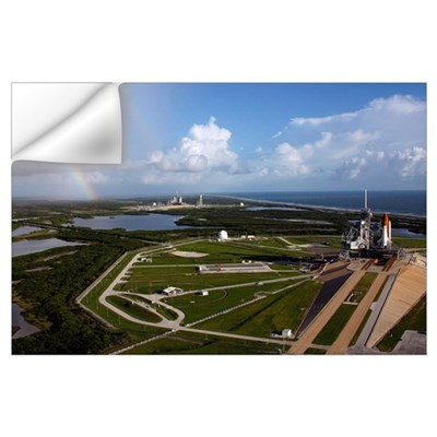 Space shuttle Atlantis and Endeavour on launch pad Wall Decal