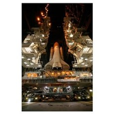 Space Shuttle Endeavour inside the Vehicle Assembl Poster