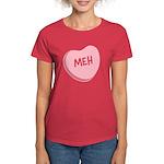 Meh Anti-Valentine's Day Women's Dark T-Shirt