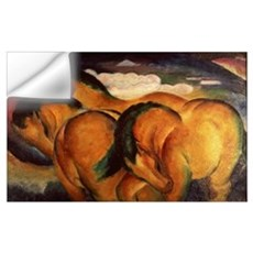 Little Yellow Horses, 1912 (oil on canvas) Wall Decal
