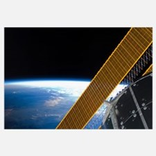 Solar array panels on the International Space Stat
