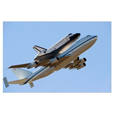 Space Shuttle Endeavour mounted on a modified Boei Poster