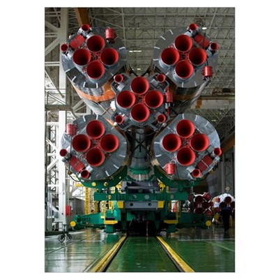 The boosters of the Soyuz TMA14 spacecraft Poster