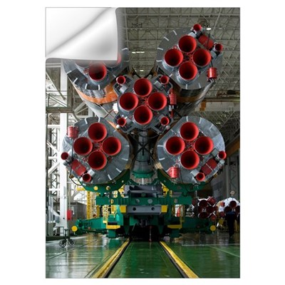The boosters of the Soyuz TMA14 spacecraft Wall Decal