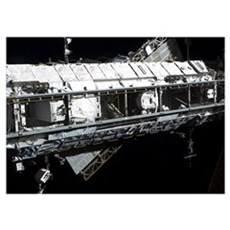 The International Space Stations starboard truss Poster