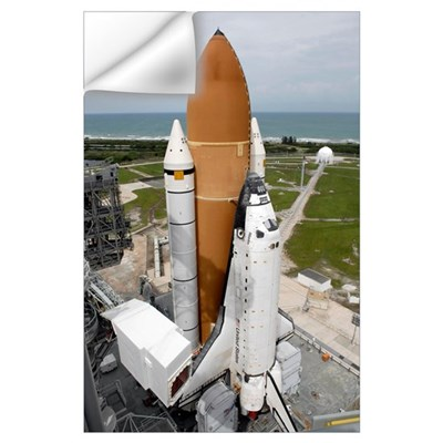 Space shuttle Atlantis sits on the top of Launch P Wall Decal
