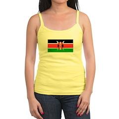 Kenya Kenyan Blank Flag Jr.Spaghetti Strap