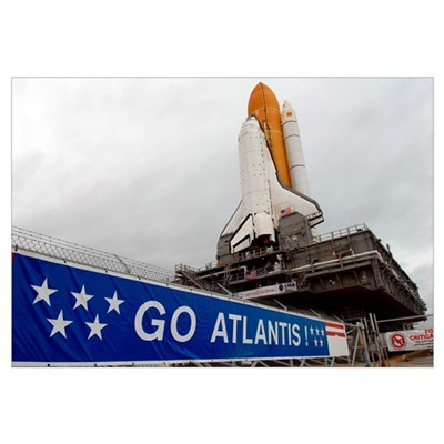A view Space Shuttle Atlantis on Launch Pad 39A at Canvas Art