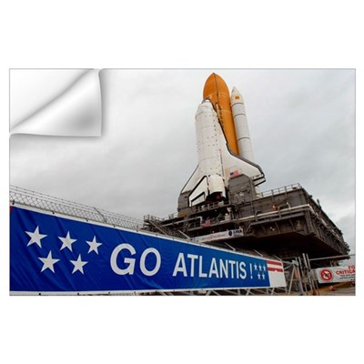 A view Space Shuttle Atlantis on Launch Pad 39A at Wall Decal