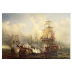 The Redoutable at Trafalgar, 21st October 1805 (oi Framed Print