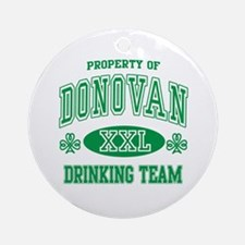 Donovan Irish Drinking Team Ornament (Round)