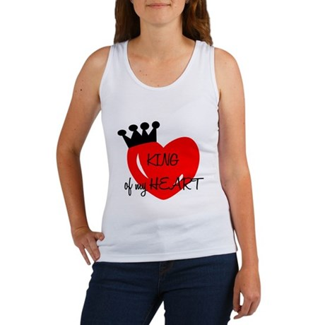 """For Her : """"King of my Heart"""" Women's Tank Top"""