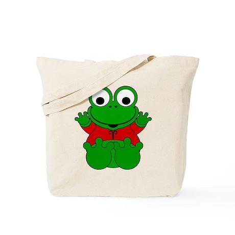 Aries Cartoon Frog Tote Bag