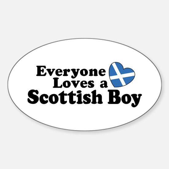 Everyone Loves a Scottish Boy Oval Decal
