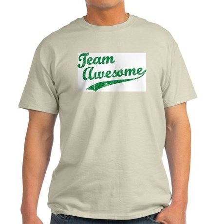 Custom Team Awesome Light T-Shirt