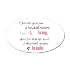 Thousand Reasons to Smile 38.5 x 24.5 Oval Wall Pe