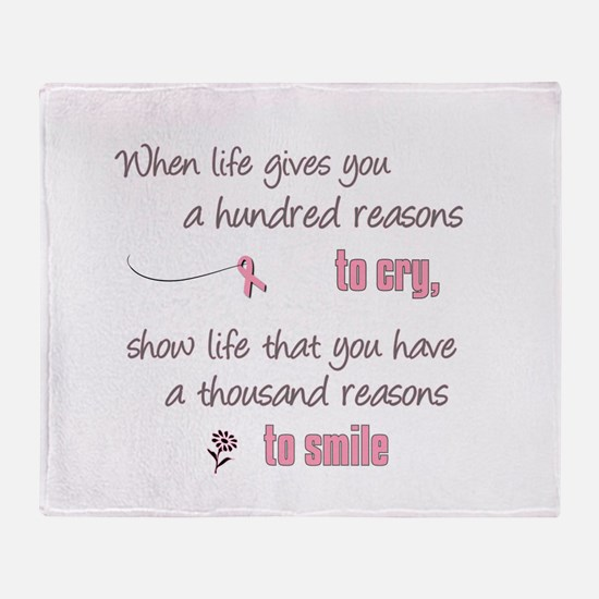 Thousand Reasons to Smile Throw Blanket
