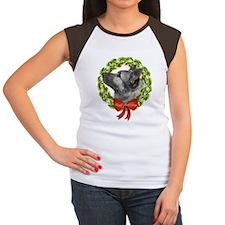 Elkhound Howl-Days Women's Cap Sleeve T-Shirt