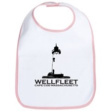 "Wellfleet MA ""Lighthouse"" Design. Bib"