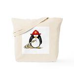 Fireman penguin Tote Bag