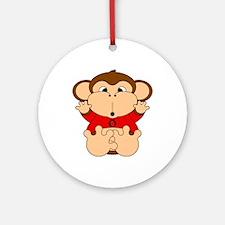 Taurus Cartoon Monkey Ornament (Round)
