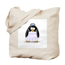 Debutant penguin Tote Bag