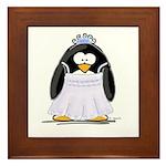 Debutant penguin Framed Tile