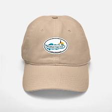 "Wellfleet MA ""Oval"" Design. Baseball Baseball Cap"