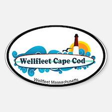 """Wellfleet MA """"Oval"""" Design. Decal"""